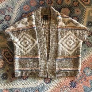 American Eagle cardigan in browns and brights